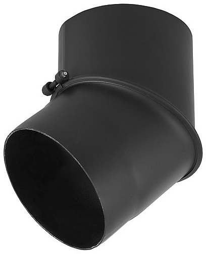 Kolano czarne żaroodporne grubościenne wkład kominowy stalowy