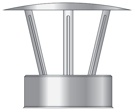 Daszek parasol spalinowy kwasoodporny izolowany dwuścienny wkład kwasoodporny komin