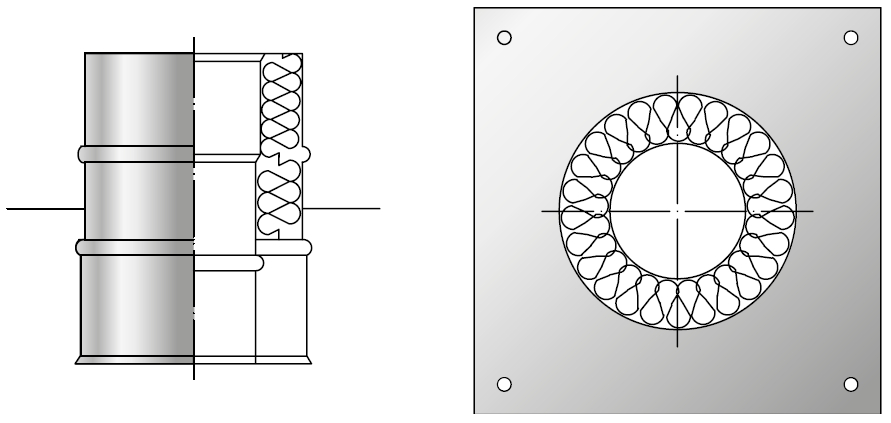 Konsola odciążająca żaroodporna izolowana dwuścienna wkład żaroodporny komin