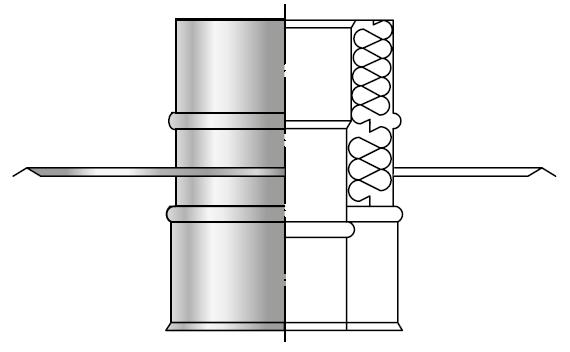 Przejście dachowe izolowane kwasoodporne dwuścienne wkład kwasoodporny komin