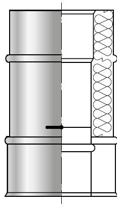 Szyber Przepustnica spalinowa kwasoodporna izolowana dwuścienna wkład kwasoodporny komin