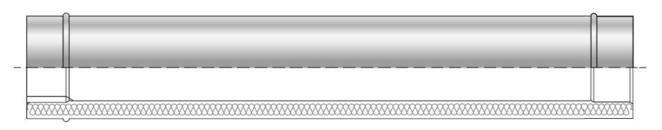 Rura żaroodporna izolowana dwuścienna wkład kwasoodporny komin