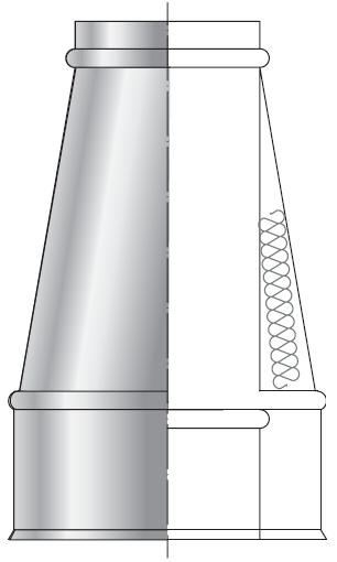 Ustnik spalinowy kwasoodporny izolowany dwuścienny wkład kwasoodporny komin