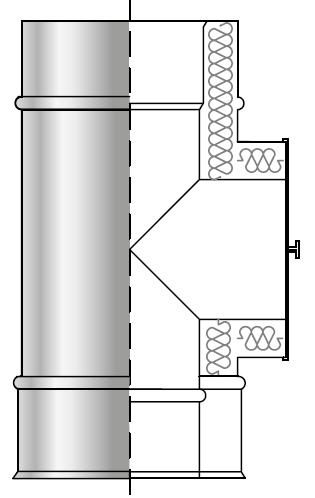 Wyczystka trójnikowa kwasoodporna izolowana dwuścienna wkład kwasoodporny komin