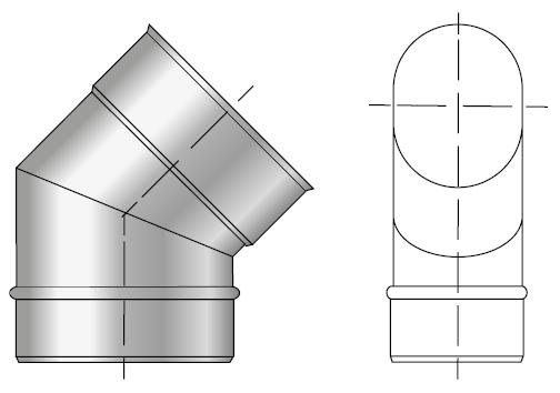 Kolano kwasoodporne owalne wkład kwasoodporny komin