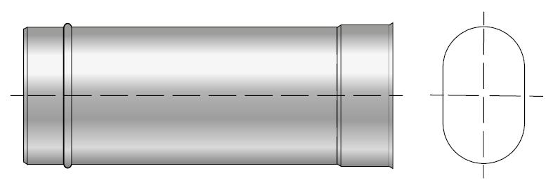 Rura kwasoodporna owalna wkład kwasoodporny komin