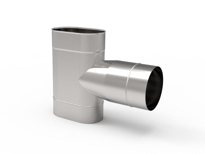 Trójnik kwasoodporny owalny wkład kwasoodporny komin