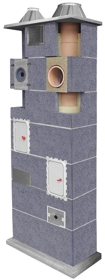 Leier Duo komin ceramiczny system kominowy