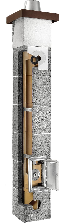 Plewa Osmose Turbo komin ceramiczny system kominowy