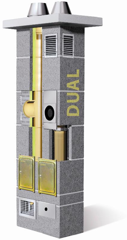 Schiedel Dual komin ceramiczny system kominowy