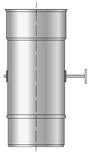 Przepustnica kominowa kwasoodporna szyber