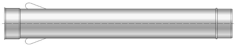 Rura żaroodporna z uszami wkład żaroodporny komin