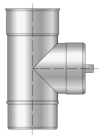 Wyczystka trójnikowa kominowa 90 kwasoodporny