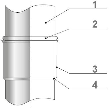 Trójnik kominowy 45 kwasoodporny