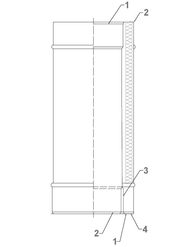 Rura kwasoodporna z oszewką izolowana dwuścienna wkład kwasoodporny komin