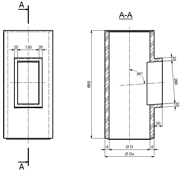 Drzwiczki wyczystkowe rewizyjne komin ceramiczny wyczystka ceramiczna