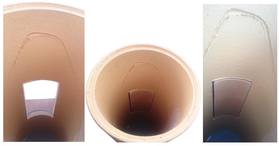 Zaślepka ceramiczna do wyczystki komin ceramiczny system kominowy